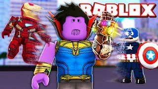 I TURNED the THANOS OF the AVENGERS and DESTROYED ALL in the ROBLOX-Snap Simulator