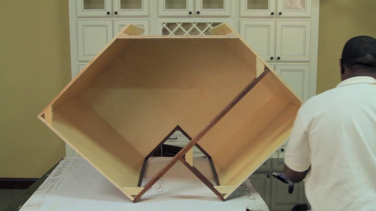how to assemble a lazy susan cabinet diy lazy susan cabinet rh youtube com lazy susan corner cabinet assembly Lazy Susan Corner Cabinet