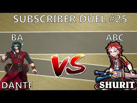 SUBSCRIBER DUEL #24- Me- ABC vs Dante- BA