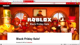 HOW NOT to MISS ANY ITEM on BLACK FRIDAY on ROBLOX!!?