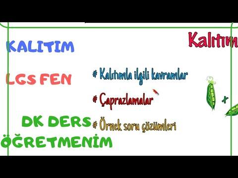 """""""KALITIM"""" Konusu 1.video #LGSFEN DK DERS ÖĞRETMENİM""""Dilek Hoca"""" #LGS2020"""