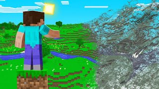 Minecraft BUT The WORLD IS DELETED...