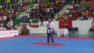 Female under 29 korea 7th world taekwondo poomsae championship in Colombia 2012 part 1
