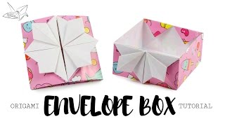 Origami Pop Up Box / Envelope Tutorial ♥︎ DIY ♥︎ Paper Kawaii