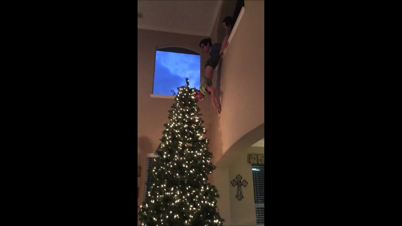 decorating a 12 foot christmas tree our way - 12 Ft Artificial Christmas Trees
