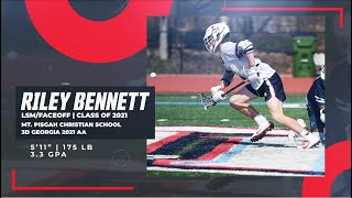 Riley Bennett '21 LSM, Faceoff | Lacrosse Highlights 2020 - University of Vermont Commit