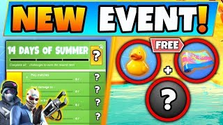 Fortnite 14 DAYS OF SUMMER *FREE* REWARDS, CHALLENGES, and EVENT! (Battle Royale update)