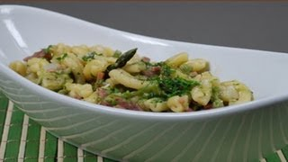 Pasta With Asparagus And Smoked Ham -  Italian Recipe