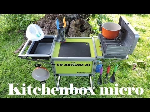 Outdoor Küche Camping : Kitchenbox micro camping und outdoor küche youtube