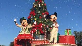 Mickey's Once Upon a Christmastime Parade Christmas Day 2018 - First SnowFall at DIsneyWorld Parade