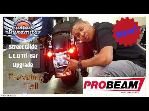 CICMOD Tri-Bar Rear Fender LED Brake Taillight+Turn Signal Lamp For Harley FLHX Touring