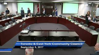 Toronto and East York Community Council - September 6, 2017 - Part 1 of 2