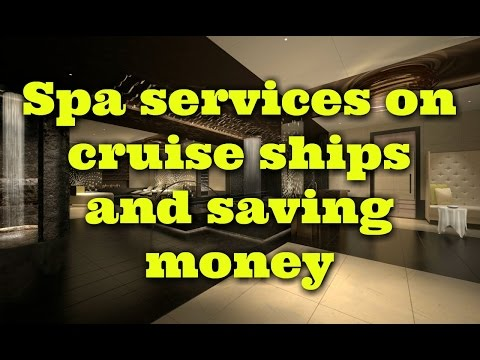 Inside a cruise ship spa - what happens behind the doors