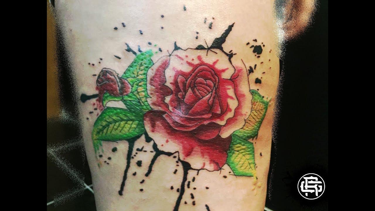 Mission Tattoo Rosa Acuarela Youtube