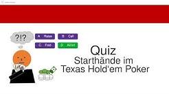 Poker Quiz: Starthände im Texas Hold'em Poker - Beispiele für das Spiel vor dem Flop