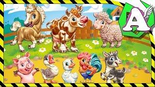 Загадки про домашние животные на ферме для детей и самых маленьких