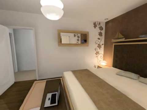 Visite virtuelle 3d chambre adulte youtube - Idee deco chambre adulte taupe ...