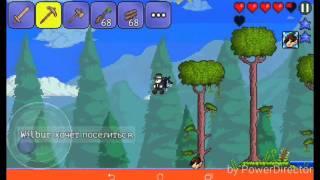 Прохождение игры Terraria на Android с друзьями