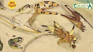 Новий динозавр сюрприз іграшки закопують в пісок 7 collecta у динозавра іграшка ж Юрського Періоду Світ динозаврів розпакування