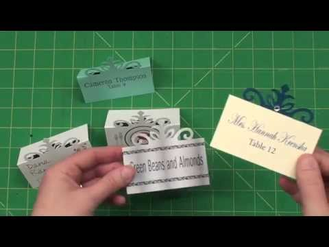 Create Your Own Elegant Place Cards YouTube