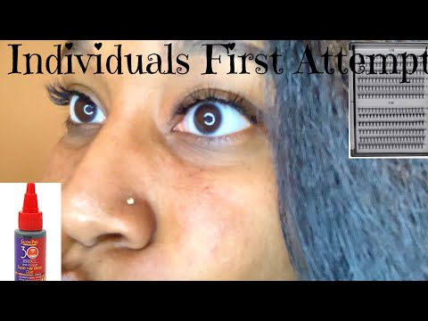 First Attempt Individuals Lashes| Imani Jay