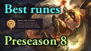 Preseason Kayle Runes - Lethal Tempo vs Press the Attack which one is better?