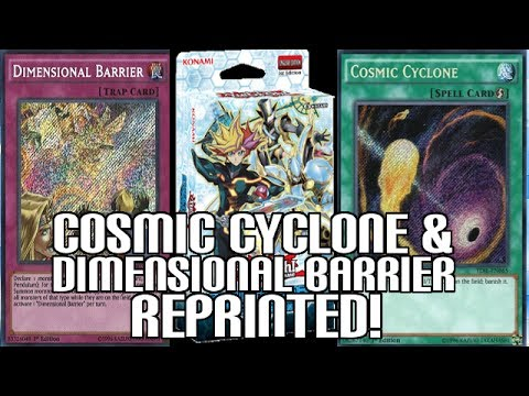 Dimensional Barrier & Cosmic Cyclone REPRINTED!!! New Cyberse Link Structure Deck Release Date!