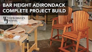 Learn how to build a bar-height Adirondack style chair. This video features complete step-by-step instructions to build this outdoor