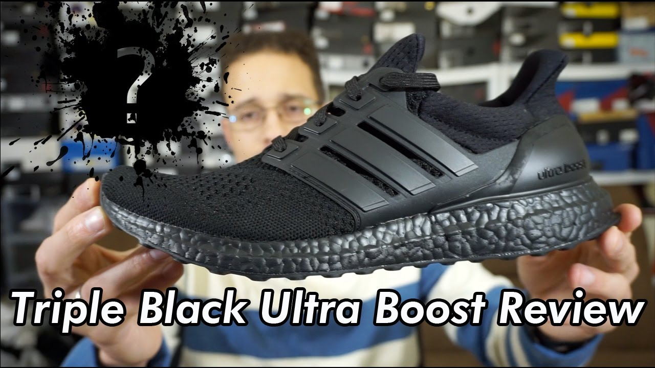 22bec795acf Are They worth it   Adidas Ultra boost Triple Black Review - YouTube