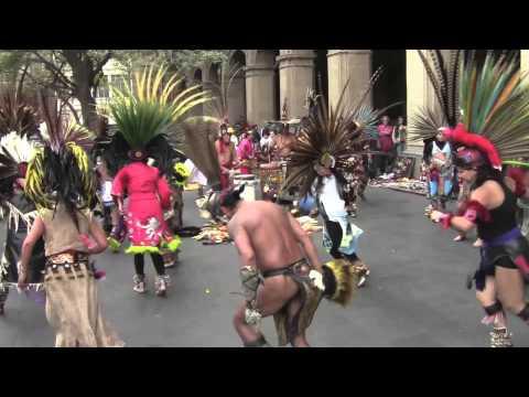 Danza mexica-Monumento a la fundación de México-Tenochtitlan