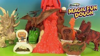 Pâte à Modeler Magic Fun Dough Volcan et Dinosaures Volcano Valley
