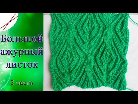 Красивый узор спицами для свитера (видео)