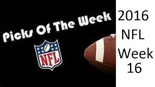 NFL 2016 Week 16 Top Picks against the Spread (30-20-2 ATS Season) Merry Christmas
