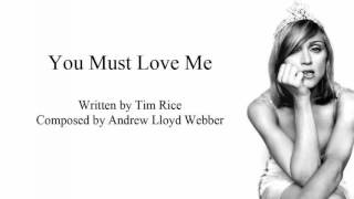 You Must Love Me - Instrumental