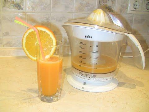 Cоковыжималка для цитрусовых BraUn. Свежевыжатый апельсиновый сок