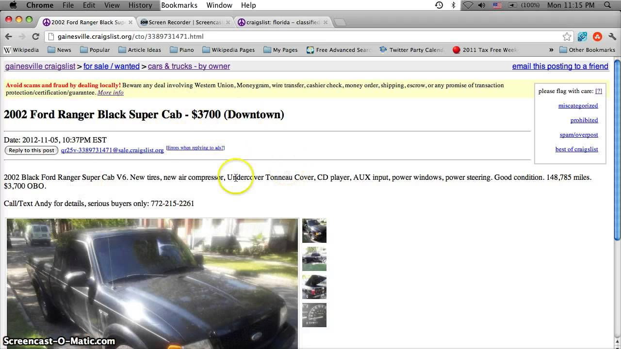 Craigslist Daytona Beach Florida >> Craigslist Gainesville Florida Used Cars and Trucks - Low Prices For Sale by Owner Classifieds ...