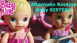 BABY ALIVE Afternoon Routine With Baby Alive SISTERS!