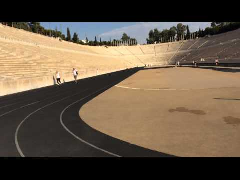 Olympic 400M at Panathenaic Stadium Athens