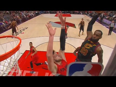 LeBron James Dunks On Jusuf Nurkic & Ends His NBA Career With Unreal Posterizer!