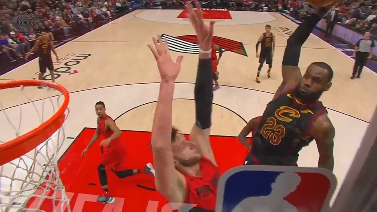 LeBron James Dunks On Jusuf Nurkic Amp Ends His NBA Career