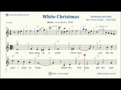 WHITE CHRISTMAS - ( Sheet music, Lyrics, Chords, Karaoke ) - YouTube