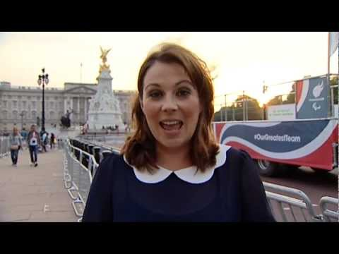 Louise Hulland, ITV News (ITV1)  London 2012 Victory Parade