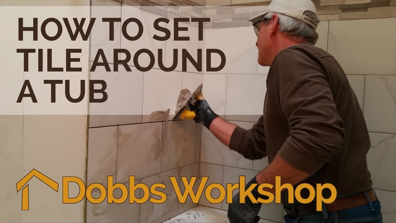 How To Set Tile Around A Tub Bathroom Remodel Youtube