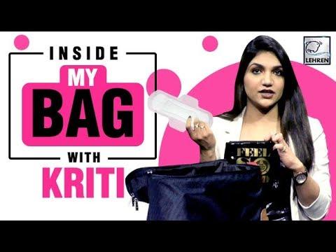 Inside My Bag With Kriti Verma | Bag Secrets Revealed | EXCLUSIVE