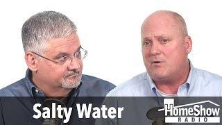 Why does my water softener make my water taste salty?