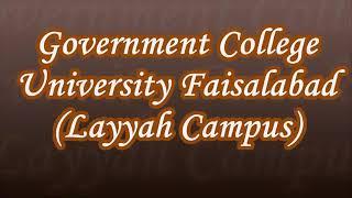 Gcuf Layyah Campus Merit List 2018