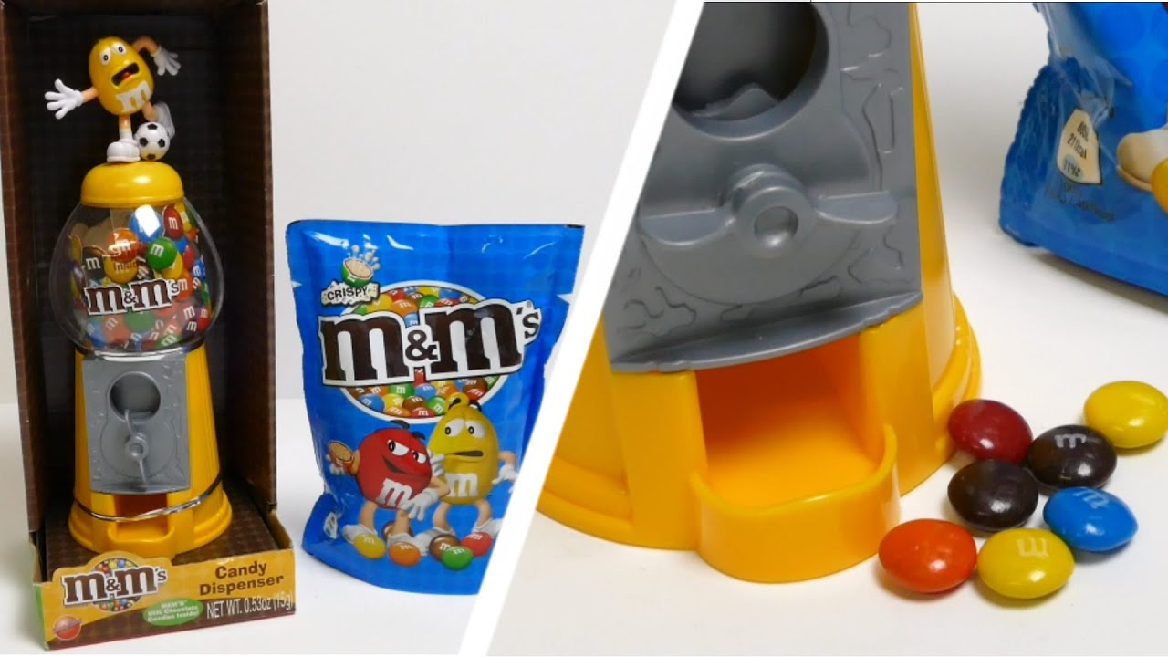 M&M s Candy Dispenser Gumball Machine Toy Football Edition