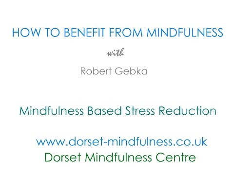 How to benefit from mindfulness - for MBSR graduates
