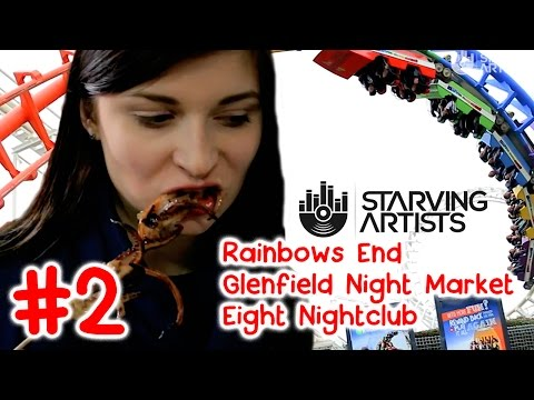 Theme Parks, Night Markets & Nightlife in Auckland, New Zealand // Starving Artists Episode 2