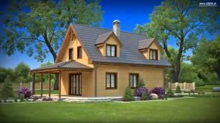 видео Д-21 Каркасный дом 8x9 м